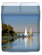Feluccas On The Nile Duvet Cover