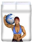 Female Atlas Duvet Cover