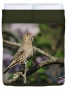 Female Finch Duvet Cover
