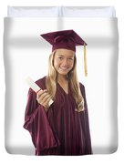 Female Graduate II Duvet Cover