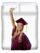 Female Graduate Duvet Cover