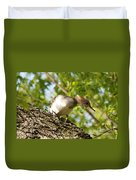 Female Hooded Merganser Duvet Cover