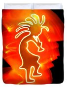 Female Kokopelli Duvet Cover