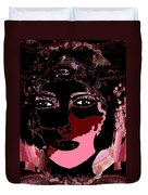 Female Warrior Duvet Cover