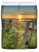 Fence Along The Shore Duvet Cover