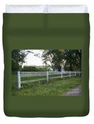 Fence Or Shoes Duvet Cover