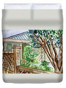 Fence Sketchbook Project Down My Street Duvet Cover by Irina Sztukowski