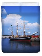 Fenit, Co Kerry, Ireland Famine Ship Duvet Cover