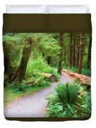 Ferns And Mosses Duvet Cover