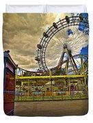 Ferris Wheel - Vienna Duvet Cover