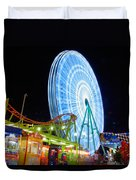 Ferris Wheel At Night Duvet Cover