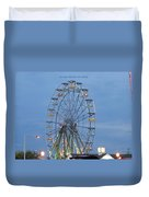 Ferris Wheel At Virginia Beach Duvet Cover