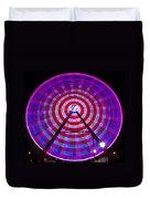 Ferris Wheel Purple Duvet Cover