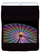 Ferris Wheel Rainbow Duvet Cover