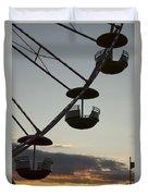 Ferris Wheel Silhouette Duvet Cover