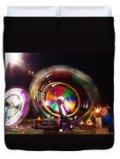 Ferris Wheels Go Round Duvet Cover