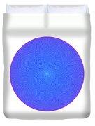 Fibonacci Figure With White Elements On Blue Duvet Cover