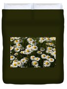 Field Of Oxeye Daisy Wildflowers Duvet Cover