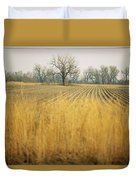 Fields At The Lillian Annette Rowe Bird Duvet Cover