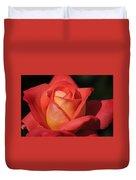 Fiery Color Rose Duvet Cover