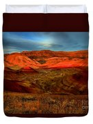 Fiery Painted Hills Duvet Cover