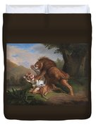 Fight Of A Lion With A Tige Duvet Cover