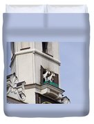 Fighting Goats Of Posnan Poland Duvet Cover