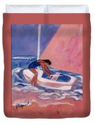Fighting To Sail Duvet Cover