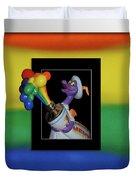 Figments Rainbow Of Colors Duvet Cover