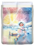 Figure Skater 10 Duvet Cover