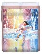 Figure Skater 13 Duvet Cover