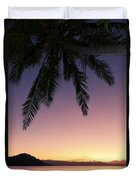 Fiji Sunset Glow Duvet Cover