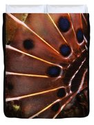 Fin Of A Scorpionfish, Indonesia Duvet Cover