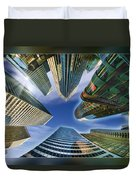 Financial Skyline Duvet Cover