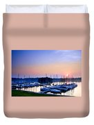 Fine Sailing Morning Coming Up Duvet Cover