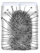 Fingerprint Diagram, 1940 Duvet Cover