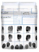 Fingerprint Identification Application Duvet Cover