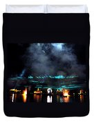 Fire Earth Water Meet Lasers Duvet Cover