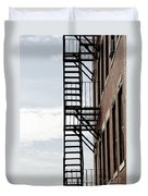 Fire Escape In Boston Duvet Cover