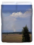 Fire In The Cascades Duvet Cover