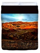 Fire In The Painted Hills Duvet Cover