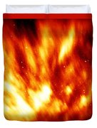 Fire In The Starry Sky Duvet Cover