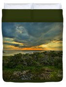 Fire Over The Outer Banks Duvet Cover