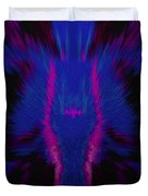 Fire Wolf Abstract Duvet Cover