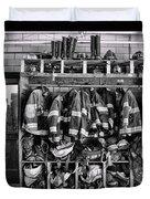 Fireman - Jackets Helmets And Boots Duvet Cover