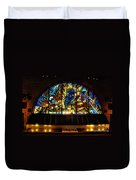 Fireman's Hall Stained Glass Duvet Cover