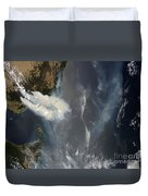 Fires And Smoke In Southeast Australia Duvet Cover