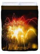 Fireworks At Philadelphia Museum Of Art Duvet Cover