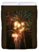 Fireworks In Night Sky Duvet Cover