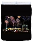 Fireworks Over Firelake Duvet Cover